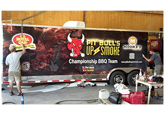 We can do vehicle wrap installations at your site Custom Graphics and Signs, Okeechobee Florida