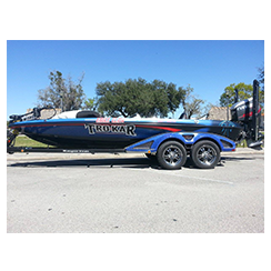 Full boat wrap from at Custom Graphics and Signs