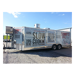 Full trailer designed and fabricated at Custom Graphics and Signs