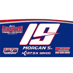 Race car decals designed and fabricated at Custom Graphics and Signs