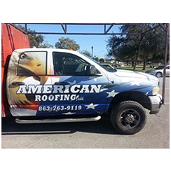 Truck wrap designed and installed by Custom Graphics and Signs