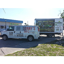 Full trailer wrap and van wrap from at Custom Graphics and Signs
