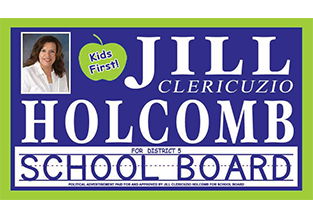 Outdoor campaign sign designed by Custom Graphics and Signs