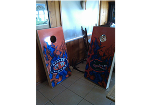 Sport's board specialty sign by Custom Graphics and Signs
