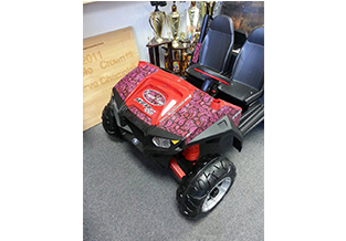 Specialty child's toy wrap by Custom Graphics and Signs