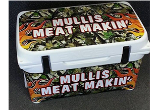 Cooler wrap by Custom Graphics and Signs