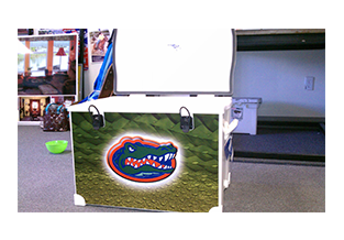Sports cooler wrap by Custom Graphics and Signs