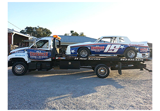Race car and truck wrap by Custom Graphics and Signs