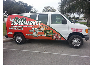 Van wrap by Custom Graphics and Signs