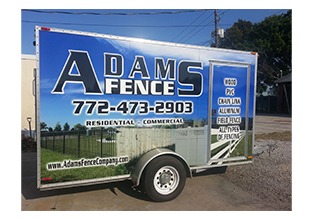 Full trailer wrap  designed by Custom Graphics and Signs