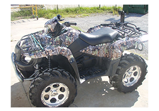 ATV wrap designed by Custom Graphics and Signs