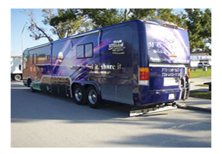 Bus wrap designed by Custom Graphics and Signs