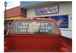 Window decals by Custom Graphics and Signs